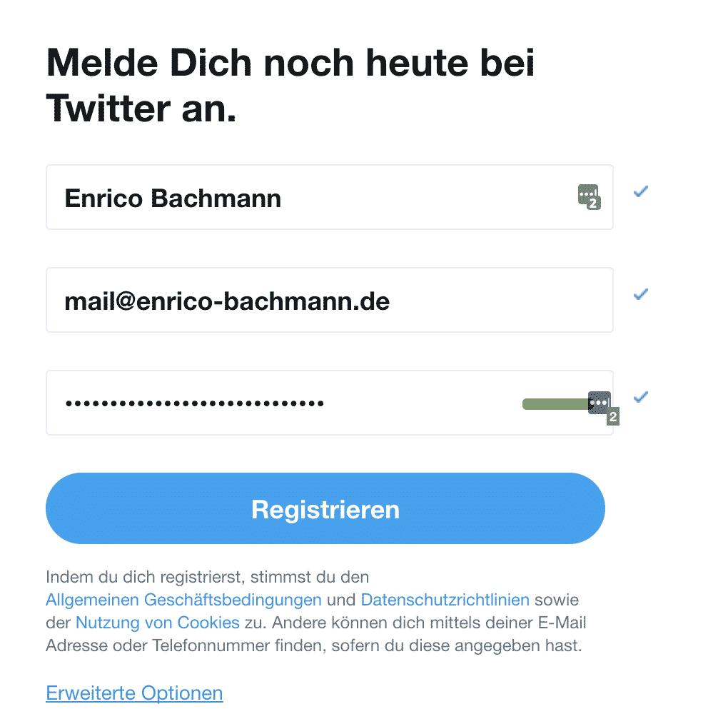 Twitter Anmelden Anleitung