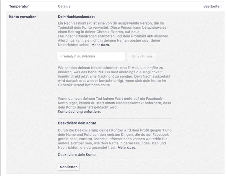 facebook deaktivieren