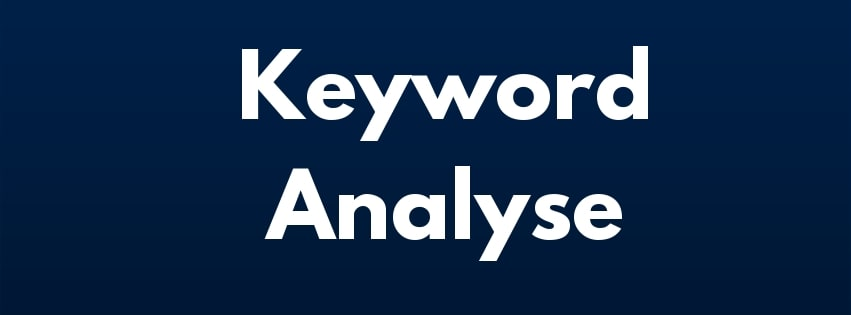 Keyword Analysen