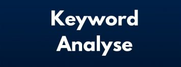 Keyword Analysen